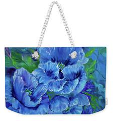 Blue Poppies 11 Weekender Tote Bag by Jenny Lee