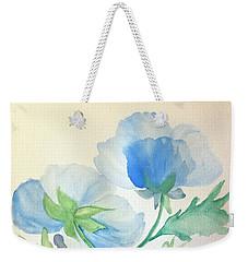 Blue Poppies Weekender Tote Bag by Maria Urso