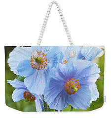 Blue Poppy Weekender Tote Bag