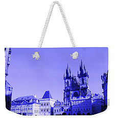 Weekender Tote Bag featuring the photograph Blue Praha by Michelle Dallocchio
