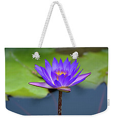 Blue Purple And Orange Water Lily Weekender Tote Bag