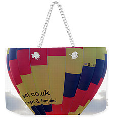 Blue, Red And Yellow Hot Air Balloon Weekender Tote Bag