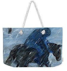 Blue Rider On Horse Weekender Tote Bag