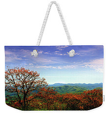 Weekender Tote Bag featuring the photograph Blue Ridge Blessing by Jessica Brawley