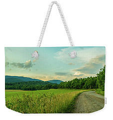 Blue Ridge Country Road Weekender Tote Bag