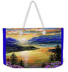 Blue Ridge Lake View Sunset Weekender Tote Bag