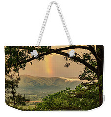 Blue Ridge Misty Mountain Rainbow Weekender Tote Bag