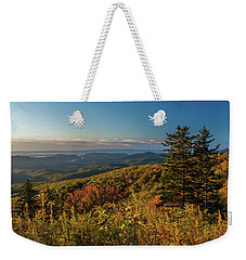 Blue Ridge Mountain Autumn Vista Weekender Tote Bag