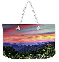 Blue Ridge Mountain Color Weekender Tote Bag