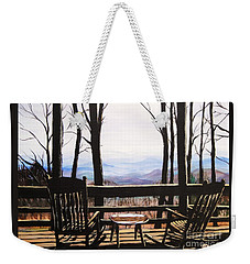 Blue Ridge Mountain Porch View Weekender Tote Bag