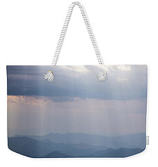 Blue Ridge Mountain Sun Ray Weekender Tote Bag by Serge Skiba
