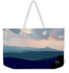 Blue Ridge Mountain Sunset Weekender Tote Bag