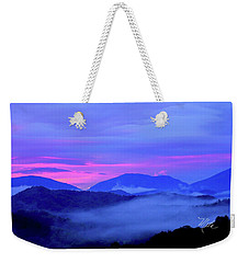 Blue Ridge Mountains Sunset Weekender Tote Bag