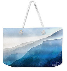 Weekender Tote Bag featuring the painting Blue Ridge Mountians by Edward Fielding