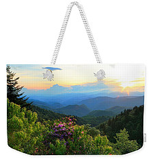 Blue Ridge Parkway And Rhododendron  Weekender Tote Bag