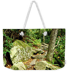 Weekender Tote Bag featuring the photograph Blue Ridge Parkway Hiking Trail by Meta Gatschenberger