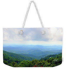 Weekender Tote Bag featuring the photograph Blue Ridge Parkway Overlook by Meta Gatschenberger