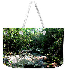 Weekender Tote Bag featuring the photograph Blue Ridge Parkway Stream by Meta Gatschenberger