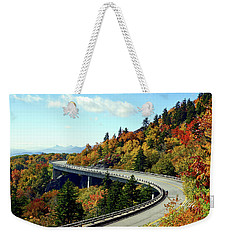 Weekender Tote Bag featuring the photograph Blue Ridge Parkway Viaduct by Meta Gatschenberger