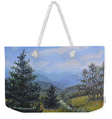 Blue Ridge Stream Weekender Tote Bag by Kathleen McDermott