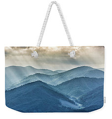 Blue Ridge Sunset Rays Weekender Tote Bag