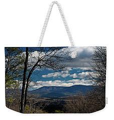 Weekender Tote Bag featuring the photograph Blue Ridge Thornton Gap by Lara Ellis
