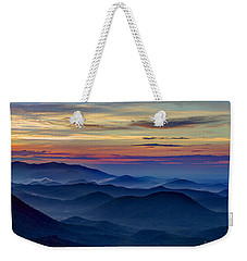Weekender Tote Bag featuring the photograph Blue Ridges Pretty Place Chapel by Reid Callaway