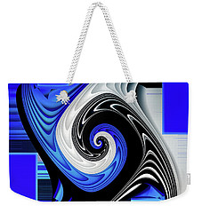 Weekender Tote Bag featuring the digital art Blue River by Shadowlea Is
