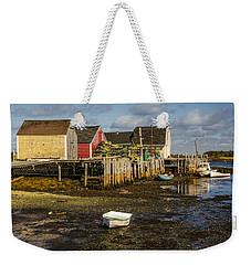Blue Rocks, Nova Scotia Weekender Tote Bag by Ken Morris