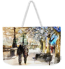 Blue Romance Weekender Tote Bag by Shirley Stalter