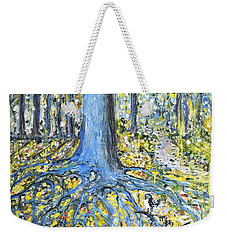 Blue Roots Weekender Tote Bag