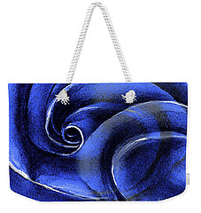 Weekender Tote Bag featuring the painting Blue Rose by Allison Ashton