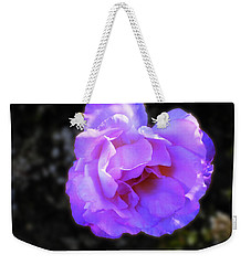 Weekender Tote Bag featuring the photograph Blue Rose by Mark Blauhoefer