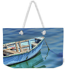 Blue Rowboat At Port San Luis 2 Weekender Tote Bag