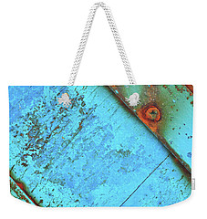 Blue Rusty Boat Detail Weekender Tote Bag
