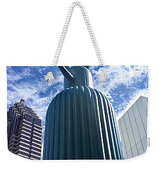 Blue Sculpture Weekender Tote Bag