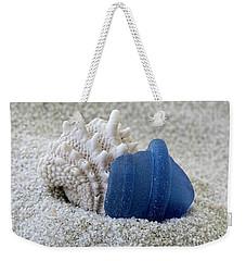 Blue Sea Glass And Seashell  Weekender Tote Bag