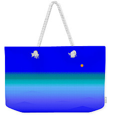 Weekender Tote Bag featuring the digital art Blue Seas by Val Arie