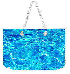 Weekender Tote Bag featuring the photograph Blue Shadow by Ramona Matei