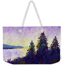 Blue Shadows At Dusk Weekender Tote Bag by Polly Castor