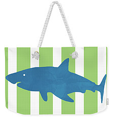 Blue Shark 1- Art By Linda Woods Weekender Tote Bag
