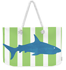Blue Shark 2- Art By Linda Woods Weekender Tote Bag
