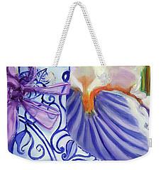 Blue Shoe, Painting Of A Painting Weekender Tote Bag
