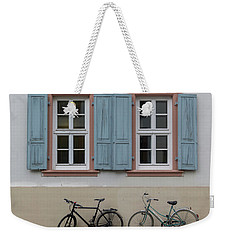 Blue Shutters And Bicycles Weekender Tote Bag