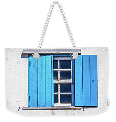 Blue Shutters Of Peniche Weekender Tote Bag
