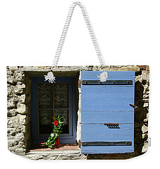 Blue Shutters Weekender Tote Bag