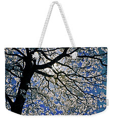 Weekender Tote Bag featuring the photograph Blue Skies Smiling At Me by Linda Unger