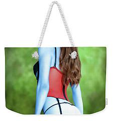 Blue Skinned Vixen Weekender Tote Bag