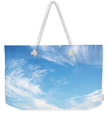 Blue Sky And Clouds Abstract Weekender Tote Bag