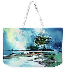 Blue Sky Weekender Tote Bag by Anil Nene